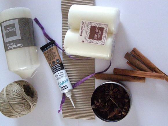 diy bougie cannelle vanille pour d co cocooning et gourmande. Black Bedroom Furniture Sets. Home Design Ideas