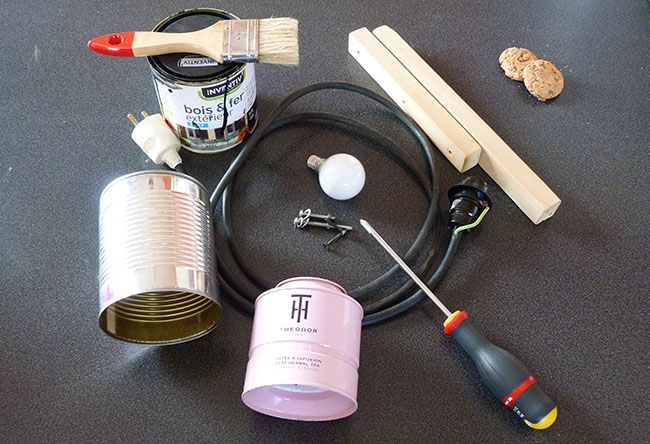 Super DIY : une lampe industrielle 100% récup' NS68