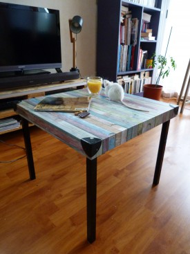 Diy relooker une table basse ik a for Relooker une table de salon