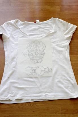 DIY t-shirt tête de mort
