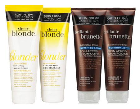 Sheer Blonde ou Brillante Brunette de John Frieda