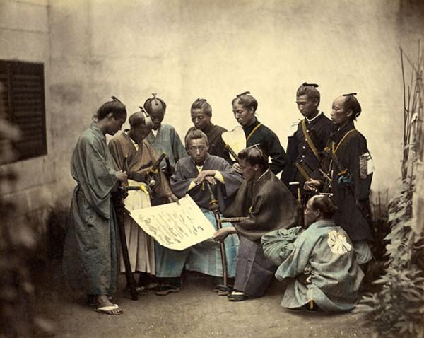 Samurai of the Satsuma clan (Japan). Ca. 1867.
