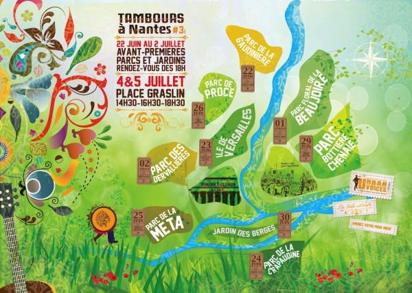 Carte Tambours à Nantes