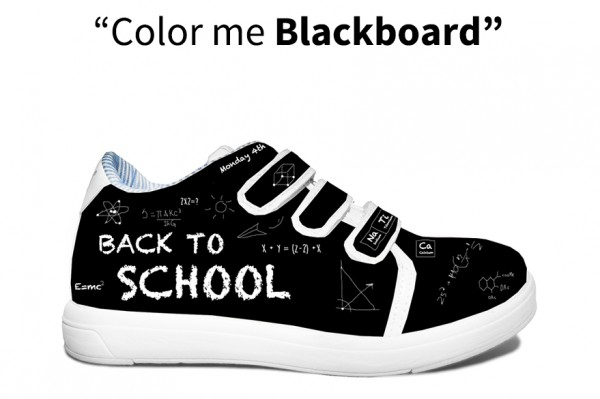 Color me Blackboard monkies shoes baskets effaçables