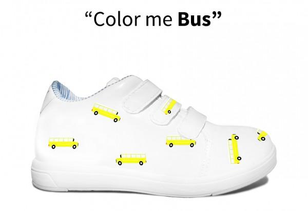 Color me Bus monkies shoes baskets effaçables